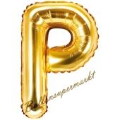 Luftballon Buchstabe P, gold, 35 cm