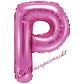 Luftballon Buchstabe P, pink, 35 cm
