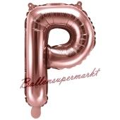 Luftballon Buchstabe P, roségold, 35 cm