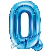 Luftballon Buchstabe Q, blau, 35 cm