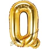 Luftballon Buchstabe Q, gold, 35 cm