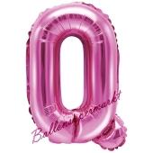 Luftballon Buchstabe Q, pink, 35 cm