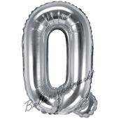 Luftballon Buchstabe Q, silber, 35 cm