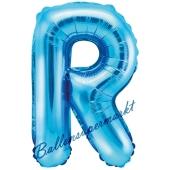 Luftballon Buchstabe R, blau, 35 cm