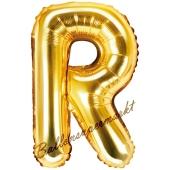 Luftballon Buchstabe R, gold, 35 cm