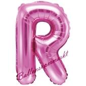 Luftballon Buchstabe R, pink, 35 cm
