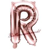 Luftballon Buchstabe R, roségold, 35 cm