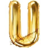 Luftballon Buchstabe U, gold, 35 cm