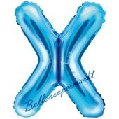 Luftballon Buchstabe X, blau, 35 cm