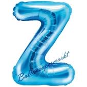 Luftballon Buchstabe Z, blau, 35 cm