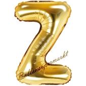 Luftballon Buchstabe Z, gold, 35 cm