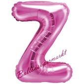 Luftballon Buchstabe Z, pink, 35 cm