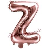 Luftballon Buchstabe Z, roségold, 35 cm