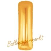 Großer Buchstabe I Luftballon aus Folie in Gold