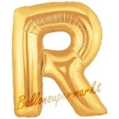 Großer Buchstabe R Luftballon aus Folie in Gold