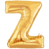 Großer Buchstabe Z Luftballon aus Folie in Gold