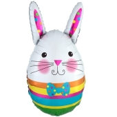 Luftballon Osterhase, Bunny Egg, ohne Helium-Ballongas