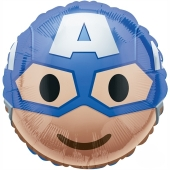 Captain America Emoticon Luftballon aus Folie mit Helium