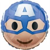 Captain America Emoticon Luftballon aus Folie mit Helium