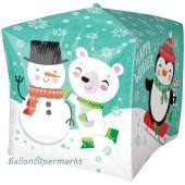 Happy Winzer, Folienballon Cubez ohne Helium