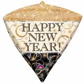 Diamondz Luftballon zu Silvester, Happy New Year , inklusive Helium
