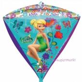 Diamondz Luftballon aus Folie, Tinker Bell ohne Helium