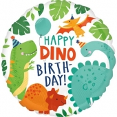 Folienballon, Happy Birthday, Dino Mite