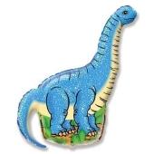 Diplodocus, Langhals Dinosaurier Luftballon aus Folie ohne Ballongas