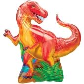 T-Rex, Dinosaurier Luftballon aus Folie ohne Ballongas