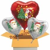 3 Luftballons zu Weihnachten, das Einhorn und der Weihnachtsmann
