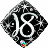 Luftballon aus Folie mit Helium, Birthday Elegant 18, zum 18. Geburtstag