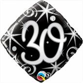 Luftballon aus Folie mit Helium, Birthday Elegant 30, zum 30. Geburtstag