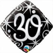 Luftballon zum 30. Geburtstag, Birthday Elegant 30, ohne Helium-Ballongas