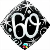 Luftballon zum 60. Geburtstag, Birthday Elegant 60, ohne Helium-Ballongas