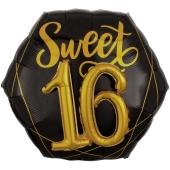 Folienballon, Jumbo Elegant Sixteen mit 3D-Effekt zum 16. Geburtstag