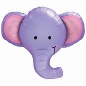 Ellie der Elefant Luftballon aus Folie mit Helium
