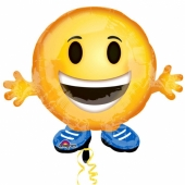 Emoticon Buddy, Folienballon mit Ballongas-Helium