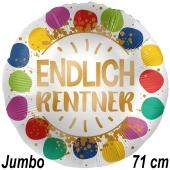 Jumbo Luftballon Endlich Rentner Dots, Satin Luxe, 71 cm, inklusive Helium