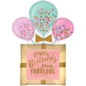 Luftballon, Fabulous Birthday Gift zum Geburtstag, ohne Helium