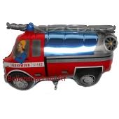 Feuerwehrauto Luftballon aus Folie ohne Helium-Ballongas