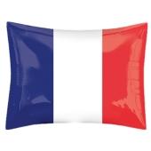 Nationalflagge Frankreich Luftballon, Folienballon ohne Helium-Ballongas