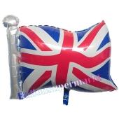 Nationalflagge Großbritannien Luftballon, Union Jack Folienballon mit Helium-Ballongas