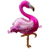 Flamingo, Folienballon mit Ballongas-Helium
