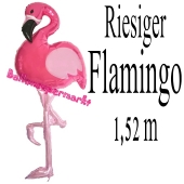 Riesiger Flamingo, Folienballon mit Ballongas-Helium