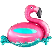 Flamingo Schwimmring, Luftballon ohne Helium