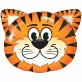 Luftballon fröhlicher Tiger ohne Ballongas