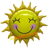 Freundliche Sonne, Folienballon mit Ballongas-Helium