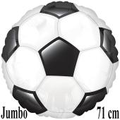 Jumbo Folienballon Fußball, inklusive Helium