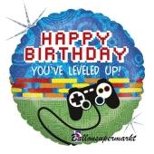 Gamepad Luftballon, Controller zum Geburtstag, ohne Helium