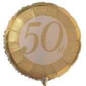 50th Luftballon aus folie zur Goldhochzeit mit Helium